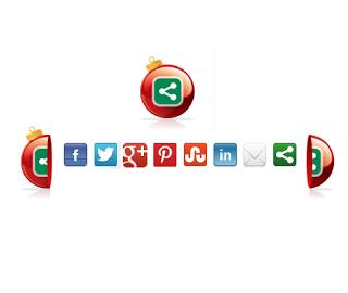 أزرار المشاركة بشكلها الجديد لمدونة بلوجر Social Bookmarking Gadget For Blogger Blogs