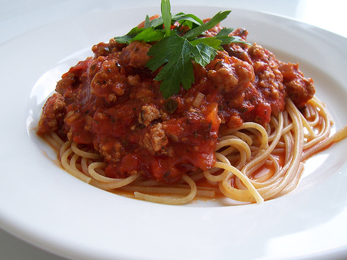 Cook Like a Badass: Recipe: Spaghetti with Meat Sauce