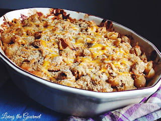 BBQ Mac and Cheese  from Living the Gourmet