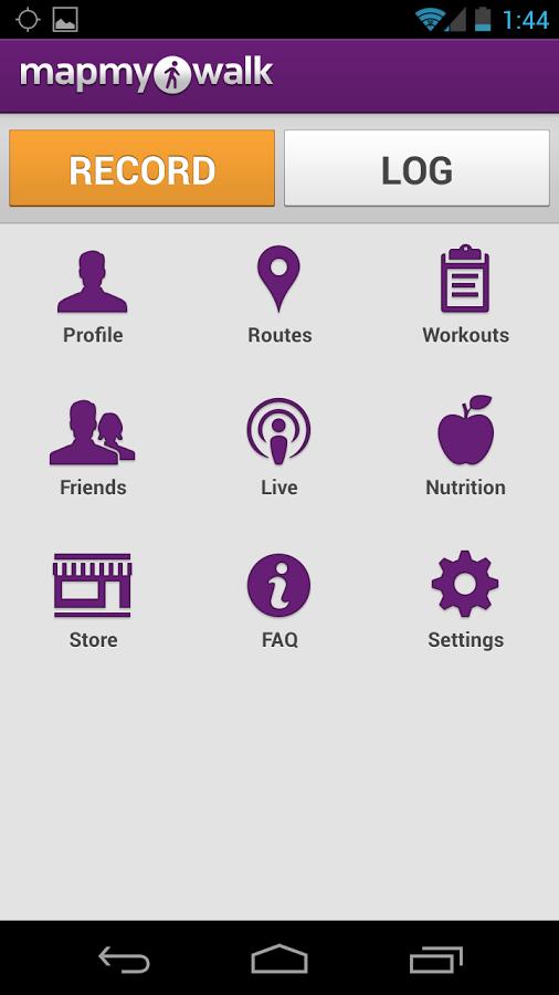 Map my Walk app screenshot