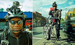 http://www.dailymail.co.uk/news/article-2640420/Cycling-superhero-names-shames-errant-drivers-seven-video-cameras-mounted-helmet-bike.html