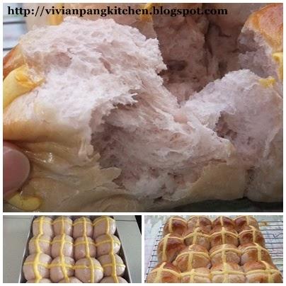 ... Pang Kitchen: Yam Hot Cross Bun/ Straight Dough Method - Bread # 2