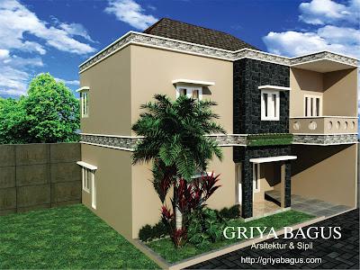 Fasade Rumah Pak Eliaf Mranggen Asri Tanpak Perspektif