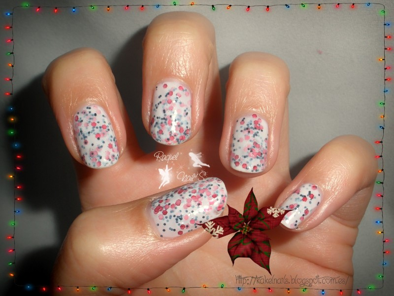 navidad uñas