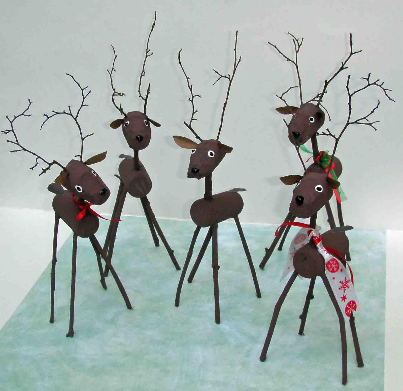 Crack of dawn crafts reindeer cork craft for Cork craft