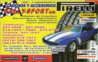 CAUCHOS Y ACCESORIOS RALLY-SPORT, C.A. en Paginas Amarillas tu guia Comercial