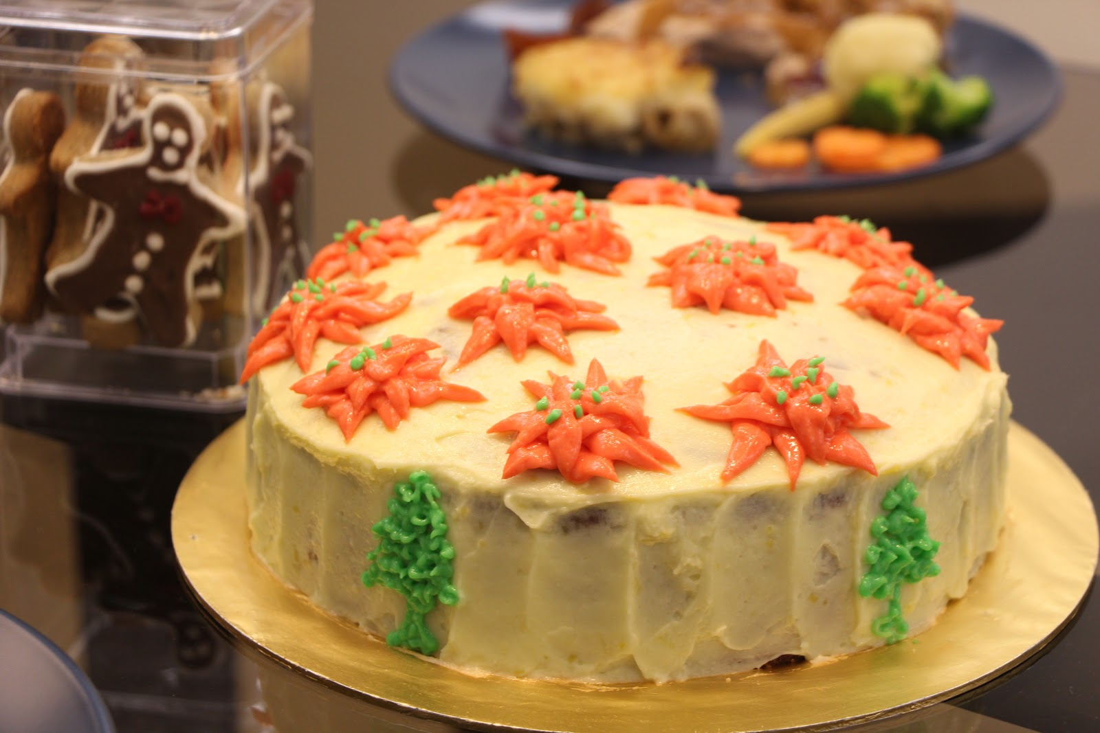 Carrot Cake With Cream Cheese And White Chocolate Frosting