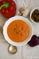 (zupa z pieczonej marchewki i papryki