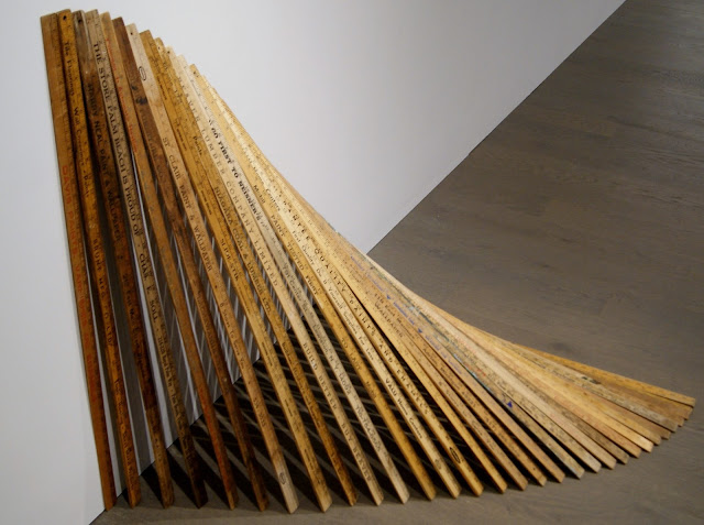 Kristiina Lahde: Ultra-Parallel Exhibit at Koffler Art Gallery in Toronto, exhibition, artmatters, Youngplace, Culture, measurment, yardsticks, tape, math, numbers, the purple scarf, melanieps, ontario, canada, slide rule