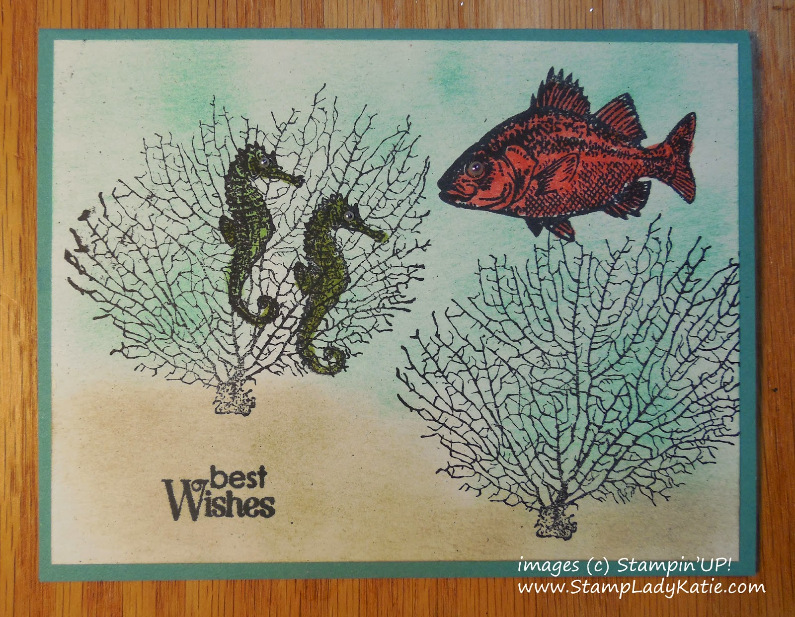 Card made with Stampin'UP!'s stamp set called By the Tide