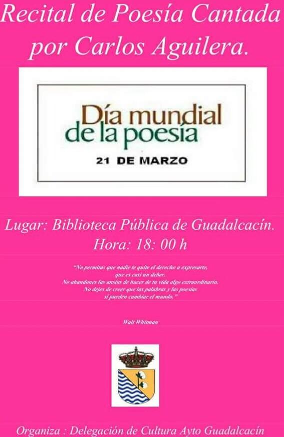 Celebración del Día Mundial de la Poesía. 2018