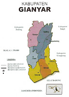 Peta Kabupaten Gianyar