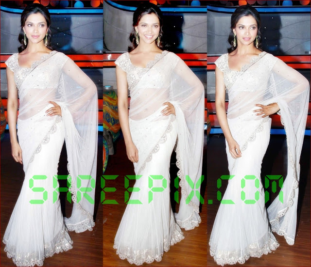 Deepika-padukone-white-saree-stills-at-Nach-baliye-5