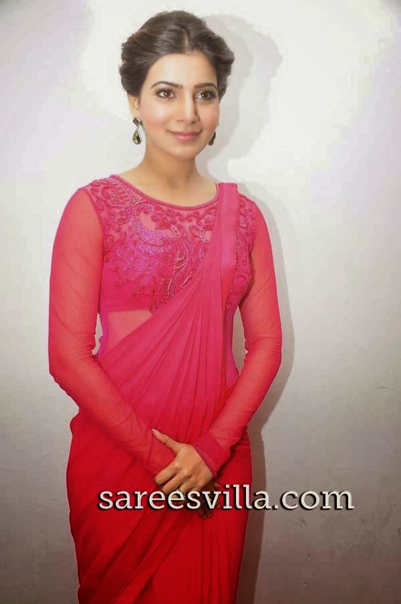 Samantha in Twisted Bun Hairstyle