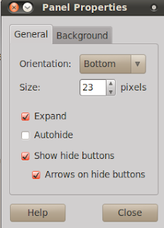 Enable hide button on panel properties