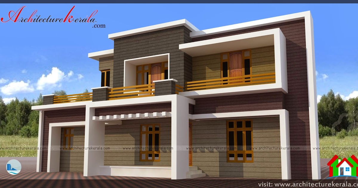 Contemporary style house plan and elevation architecture for Contemporary building elevation