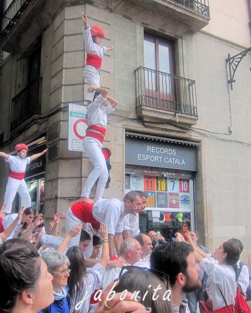 Menschenpyramide Barcelona