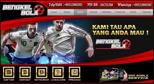 BengkelBola.net Agen Bola Online Terpercaya Indonesia