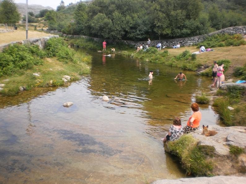 Praia Fluvial da Mizarela antigamente