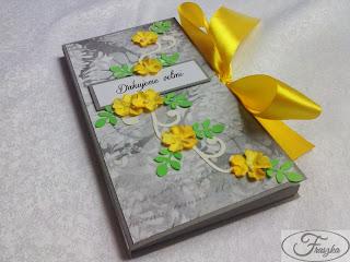 Ręcznie robiona kartka z czekoladą