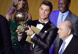 Ballon d'Or 2013 diraih Cristiano Ronlado