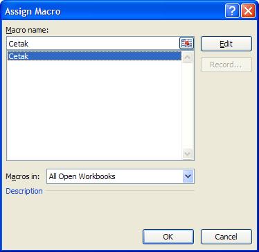 Mencetak dengan VBA Excel