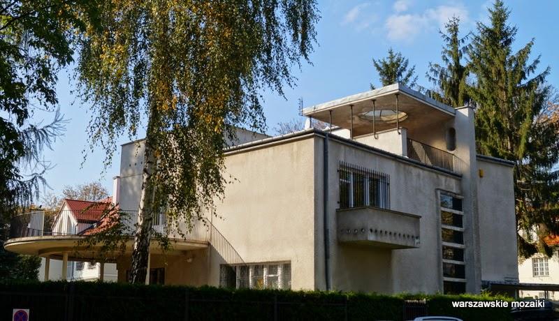dom Brzezińskich Obrońców warszawskie mozaiki Saska Kępa Warszawa Praga Południe willa modernizm lata 30 lata 20 architektura