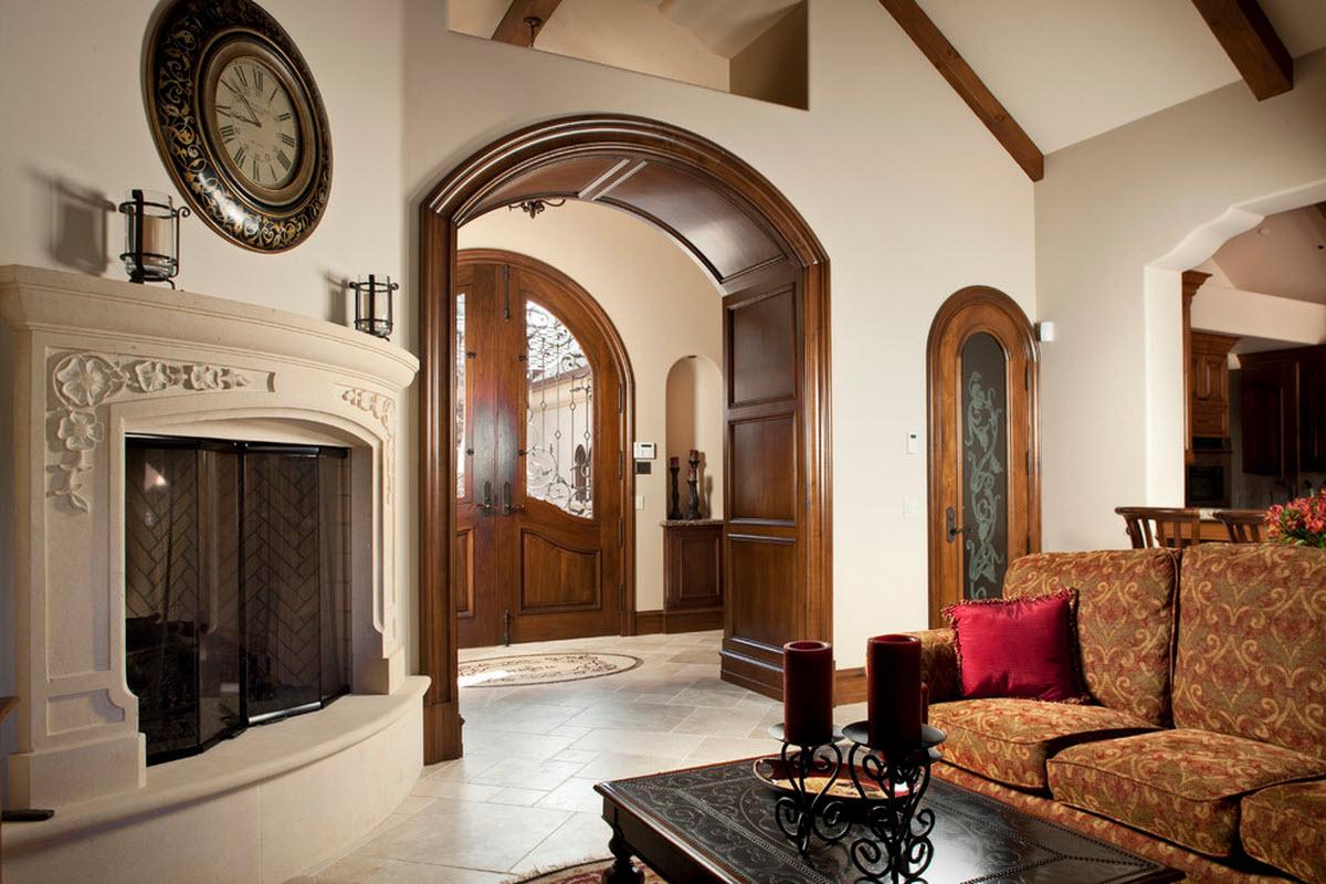 Фото интерьер зала с аркой