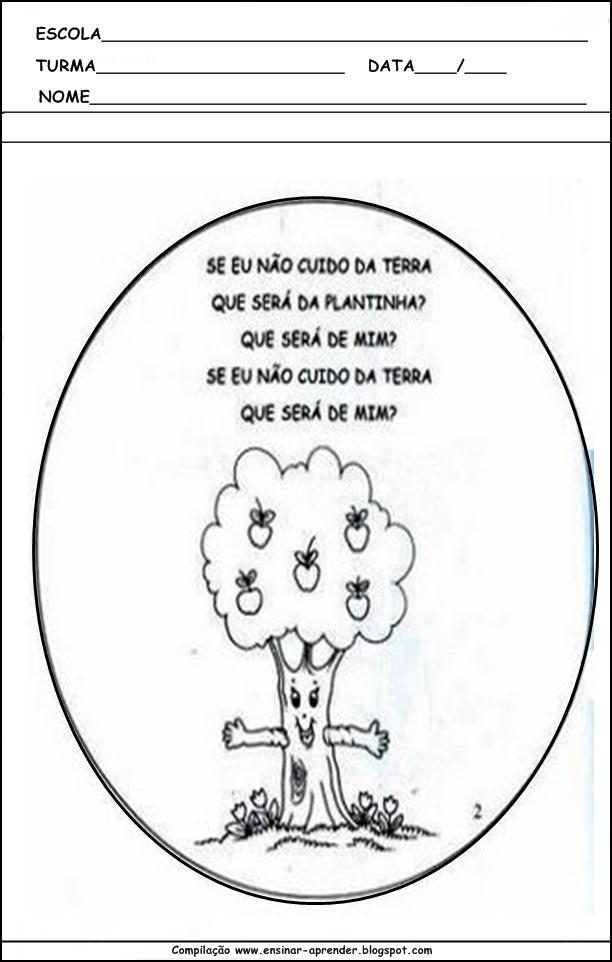 Excepcional MEIO AMBIENTE ATIVIDADES PARA EDUCAÇÃO INFANTIL | Cantinho do  AD33
