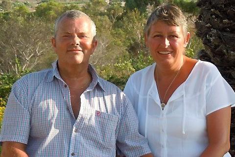 Jane Marie Hoffmann med sin mand, Kim