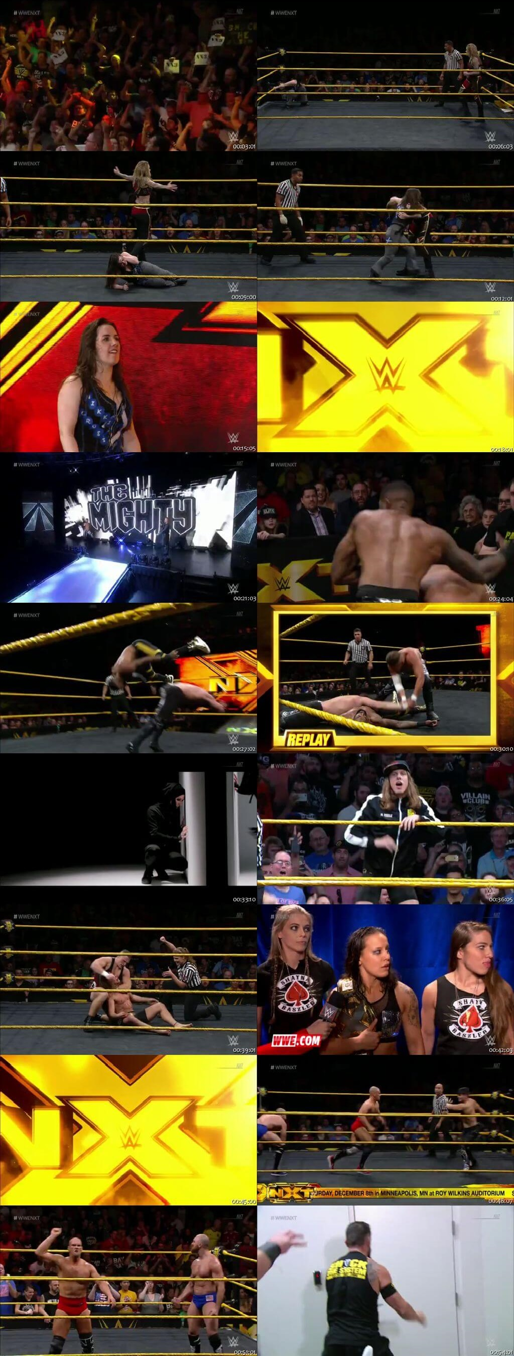 Screen Shot Of WWE NXT 31st October 2018 HDTV 480P 300MB