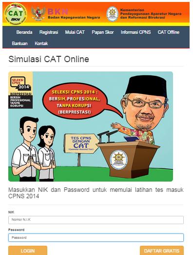 Latihan Online CAT CPNS 2014 [gretis]