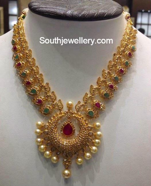 uncut diamond necklace