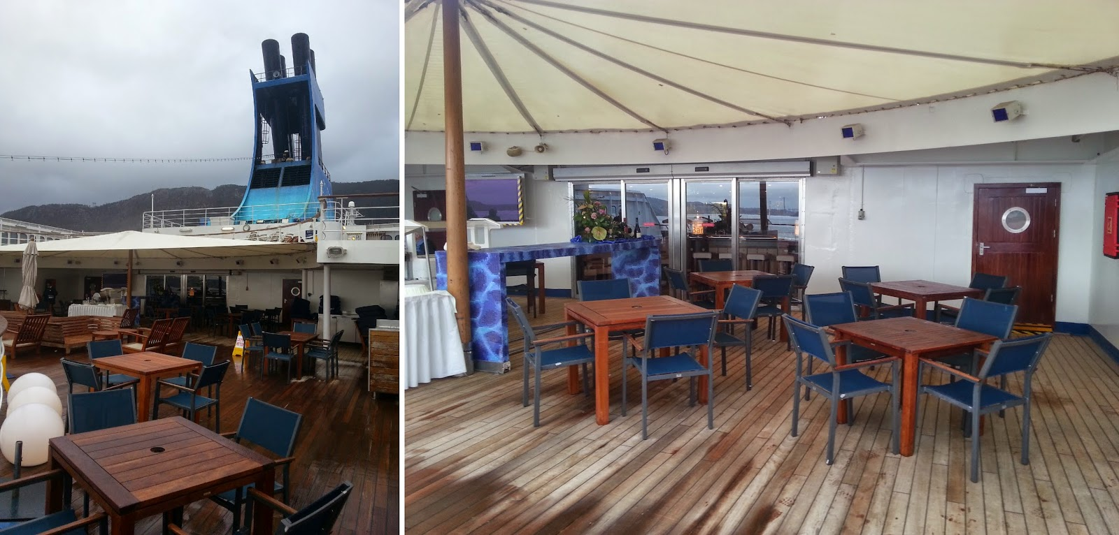 Cruise Ship Saga Pearl II - Outdoor Seating for Sundowner Bar
