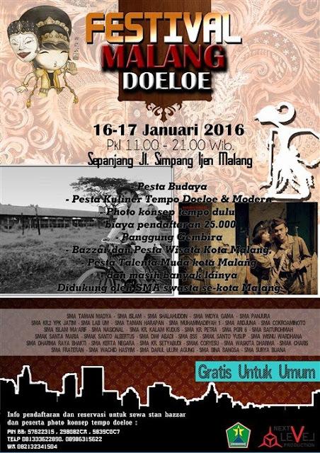 Malang Tempo Doeloe (MTD) Hadir Lagi, 16-17 Januari 2016