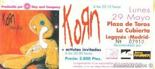 entrada de concierto de korn