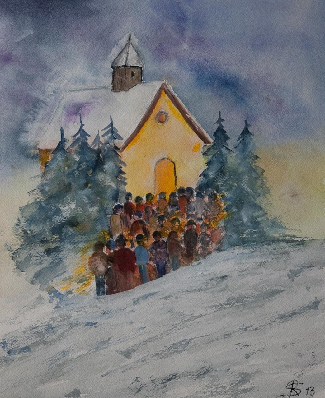 Galerie rudi springer - Aquarell weihnachten ...
