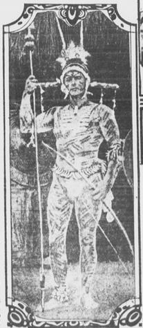 Gordon MacCreagh c. 1922 in Indian makeup before Caapi dance