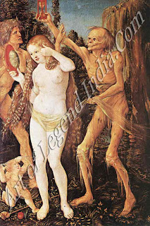 Death and decay, The recurrent theme of death and decay is depicted here by one of Bosch's contemporaries, Hans Baldung Grien.
