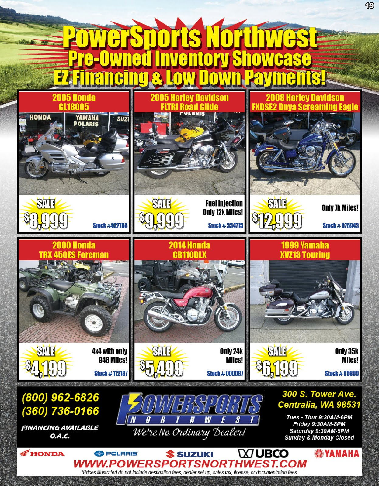 Powersports Northwest Used Motorcycle Sale!