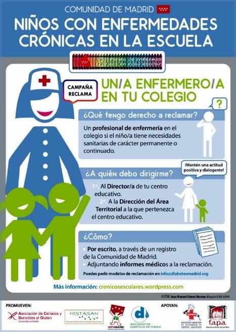 Campaña Reclama un/a enfermero/a en tu Colegio