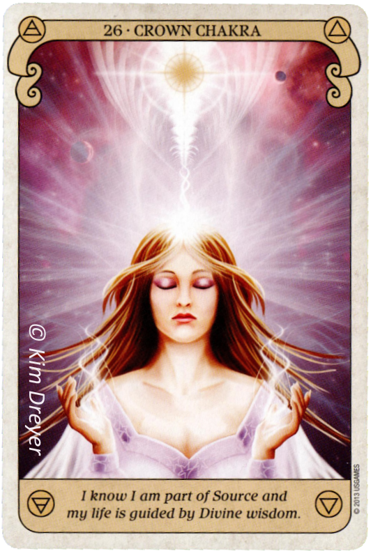 Conscious Spirit Oracle, Crown Chakra, Kim Dreyer