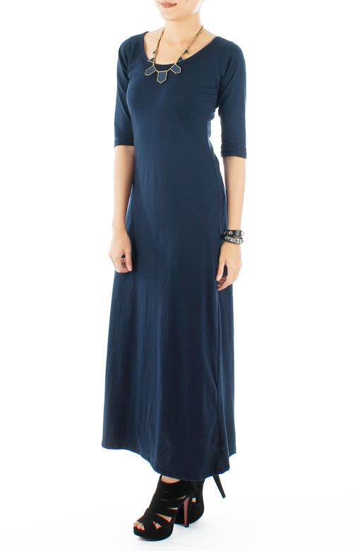 Gypsetter Maxi Dress in Prussian Blue