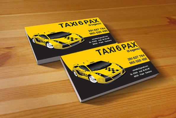 Mẫu card visit taxi 4