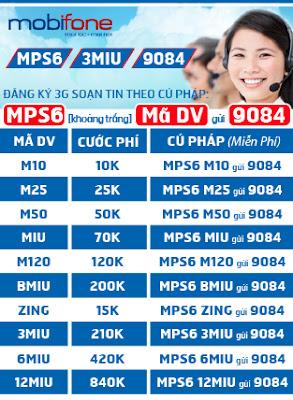 đăng ký 3g mobifone