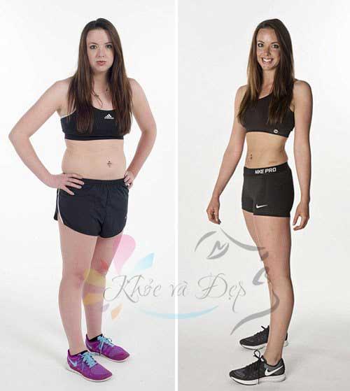 Cô gái giảm cân nhanh để mặc bikini bằng nghị lực bản thân
