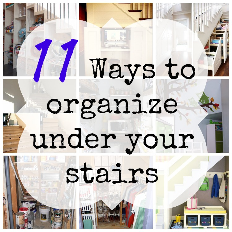 11 Ways To Organize Under Your Stairs