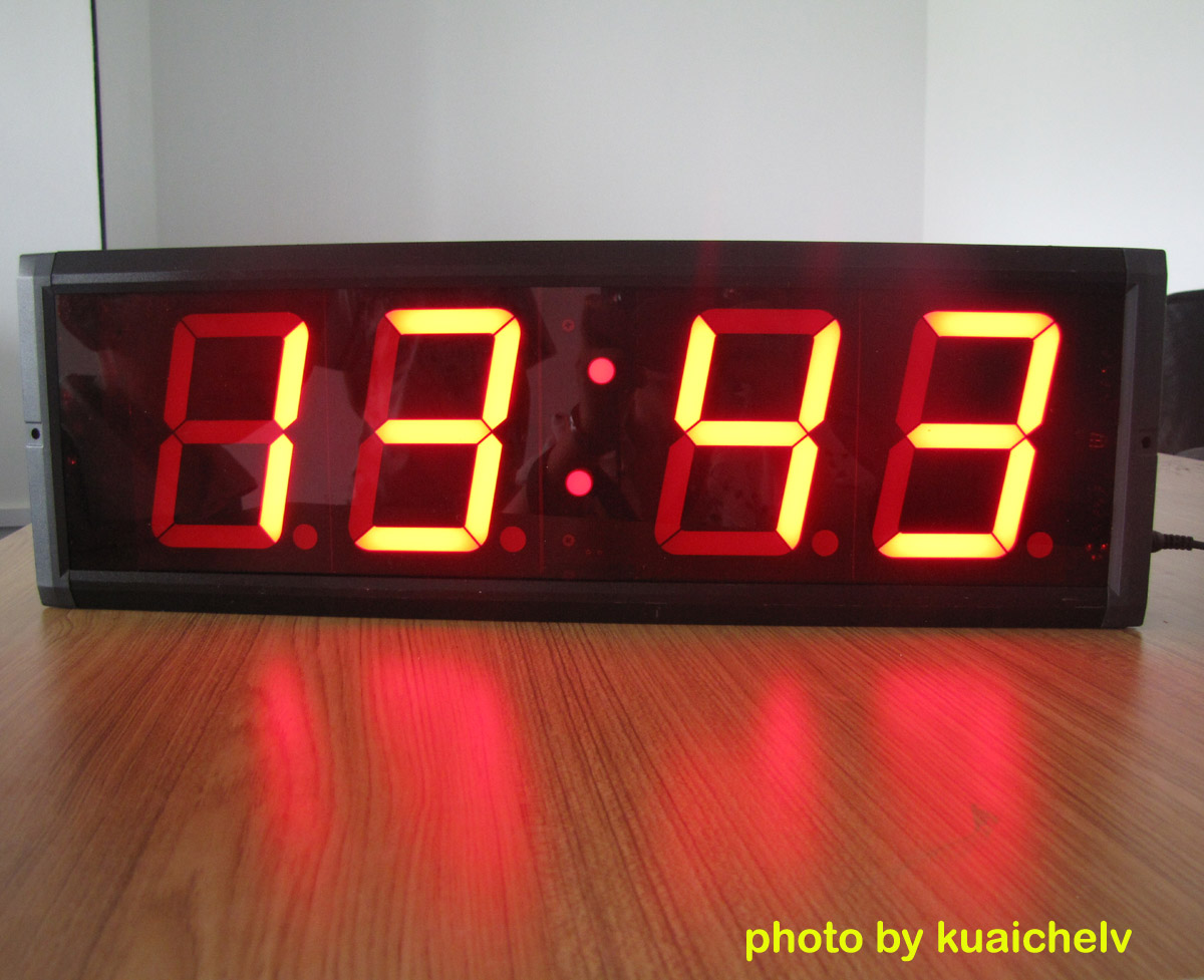 Large led countdown timer large led digital wall clock Digital led wall clock