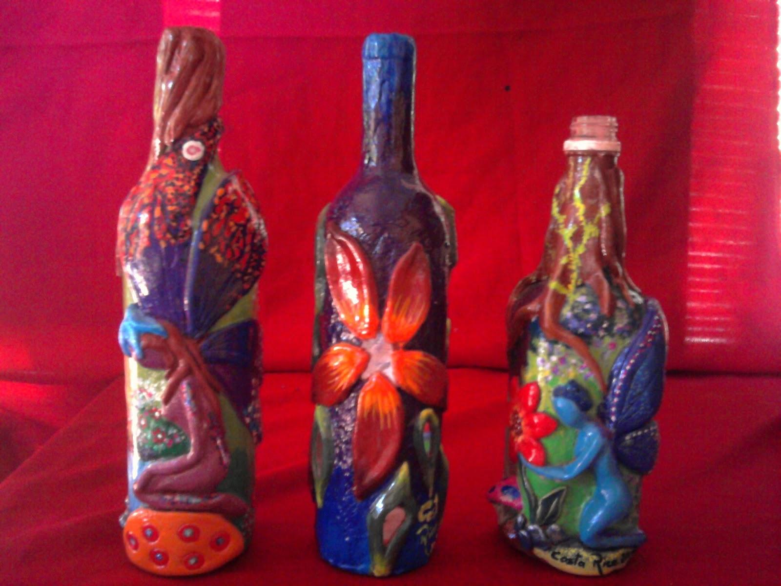Botellas Decoradas En Relieve Paso A Paso