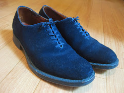 50's BLUE SUEDE SHOES                                                                  SIZE:9 inch